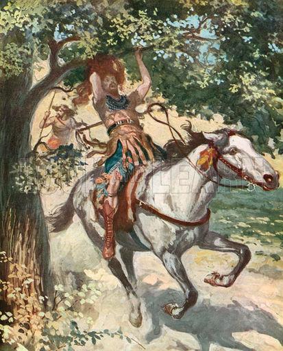 Absalom Hanging on the Oak Tree